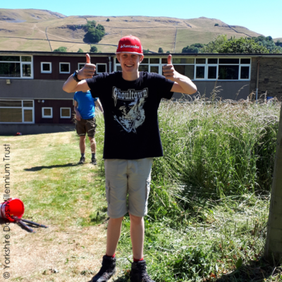 Young person at Yorkshire Dales Millennium Trust