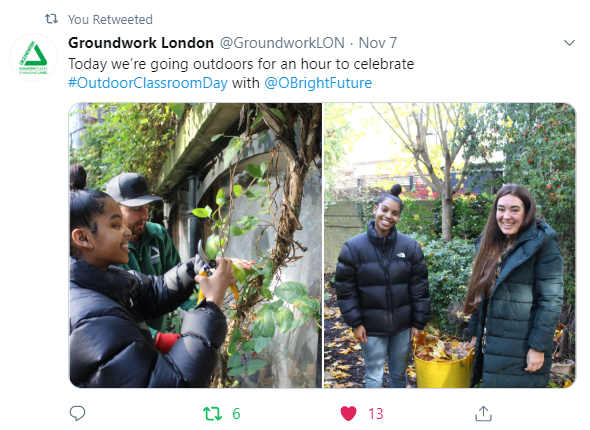 Outdoor Classroom Day Groundwork London